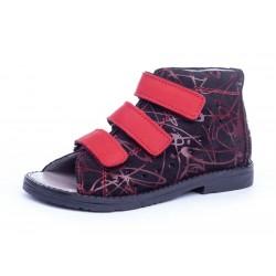 1041-67 czarny czerwone paski