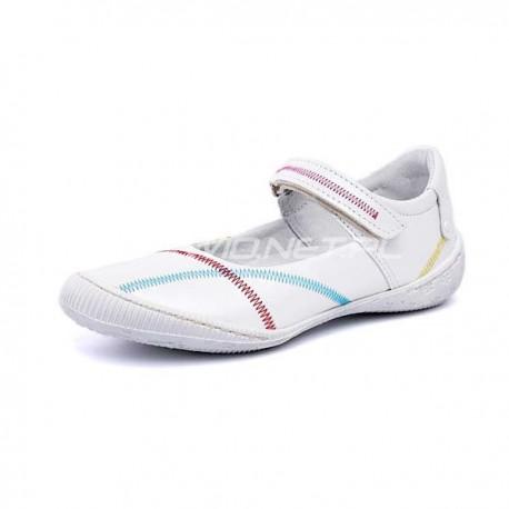 919 BZ biały + kolorowy zygzak