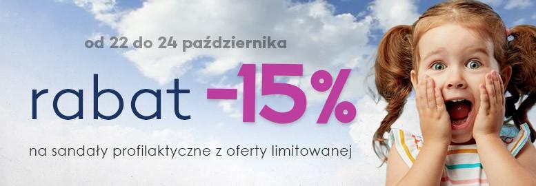 rabat 15% na kapcie profilaktyczne z oferty limitowanej